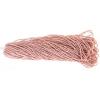 Cut 13/0 Opaque pink Lustre Strung